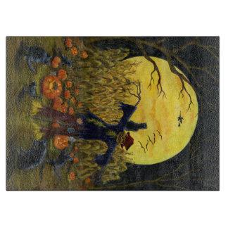 Halloween Glass Cutting Board, Scarecrow Boards