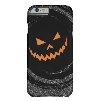 Halloween Glowing Jack O'Lantern in a black swirl Barely There iPhone 6 Case
