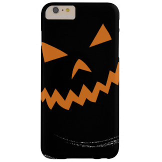 Halloween Glowing Jack O'Lantern in a black swirl Barely There iPhone 6 Plus Case