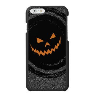 Halloween Glowing Jack O'Lantern in a black swirl Incipio Watson™ iPhone 6 Wallet Case