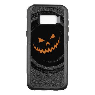 Halloween Glowing Jack O'Lantern in a black swirl OtterBox Commuter Samsung Galaxy S8+ Case