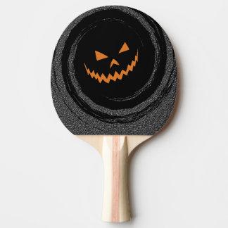 Halloween Glowing Jack O'Lantern in a black swirl Ping Pong Paddle