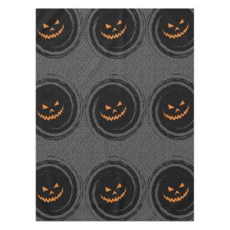 Halloween Glowing Jack O'Lantern in a black swirl Tablecloth