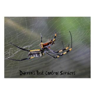 Halloween Golden Spider Large Business Card