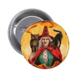 Halloween Good Wishes Witch Buttons