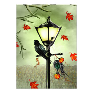 "Halloween Goth Crow 5"" X 7"" Invitation Card"
