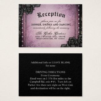 Halloween Gothic Purple Black 3.5 x 2.5 Reception Business Card
