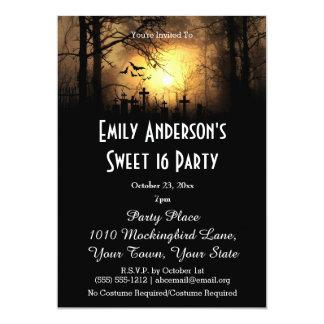 Halloween Graveyard Costume Sweet 16 Birthday Card