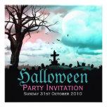 Halloween Graveyard Dusk Invitation