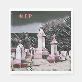 Halloween Graveyard RIP Party Supplies Napkin