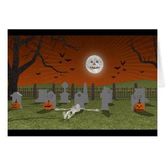 Halloween: Graveyard Scene: Card