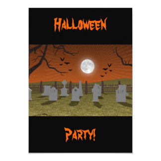 Halloween: Graveyard Scene: Invitation Card
