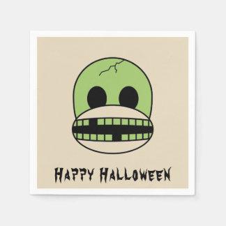 Halloween Green Monster Sock Monkey Party Napkin