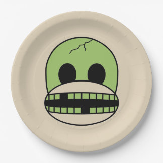 Halloween Green Monster Sock Monkey Party Plate