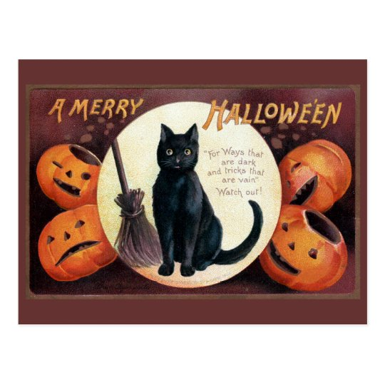 Halloween Greeting by Ellen Clapsaddle Postcard