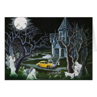Halloween, greeting,card,ghosts,angels,frameable card