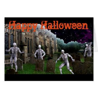 Halloween Greeting Card/Grave Scene Card