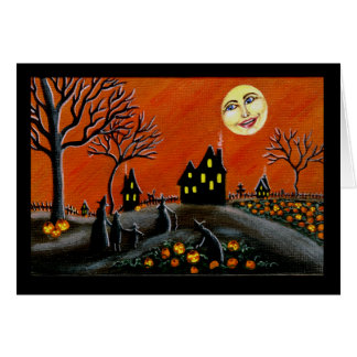 Halloween ,greeting, card , witches,Jack-O-Lantern
