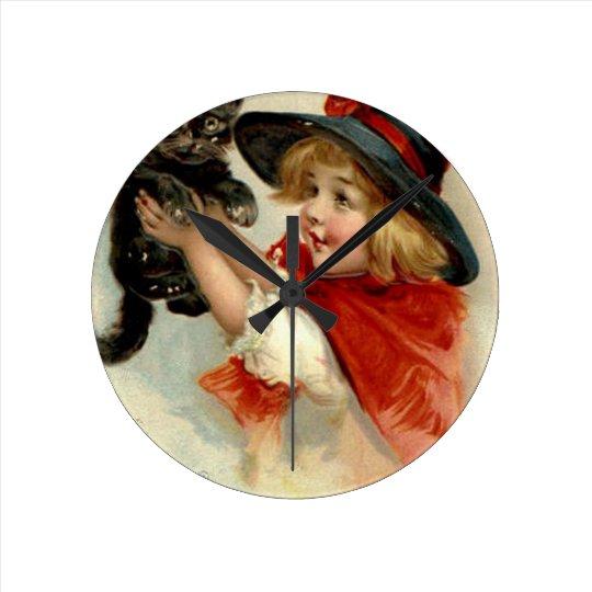 Halloween Greetings - Frances Brundage Wallclock