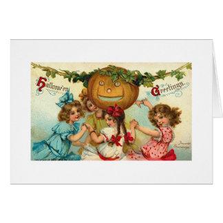 Halloween Greetings Girls Card