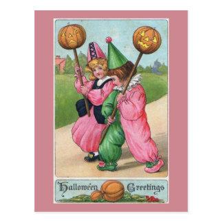 Halloween Greetings! Vintage Postcard