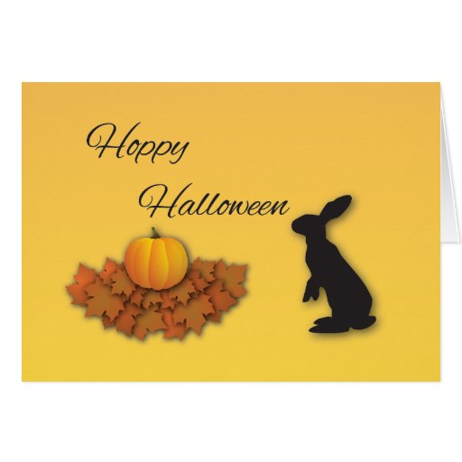 Halloween Greetings with Rabbit Card
