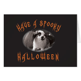Halloween Greetings with Rabbit Greeting Card