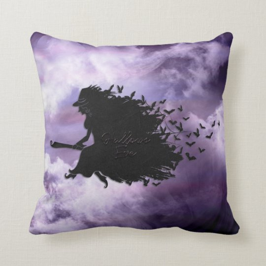Halloween - Hallows Eve Witch All Options Throw Pillow
