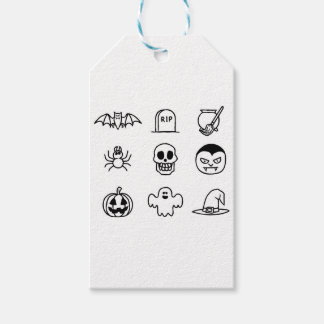Halloween Hand Drawn Icon Set Gift Tags