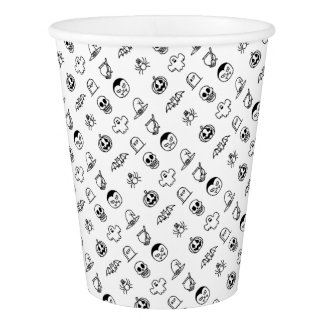 Halloween Hand Drawn Icon Set Paper Cup