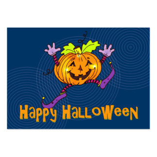 Halloween Happy Pumpkin Greeting Large Business Card