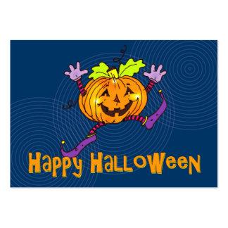 Halloween Happy Pumpkin Greeting Large Business Card