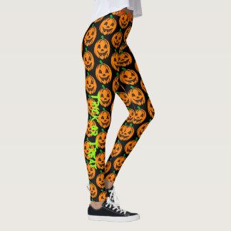 Halloween Happy Pumpkin Leggings Yoga Pants