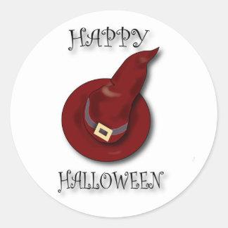 HALLOWEEN-hat-sticker Classic Round Sticker