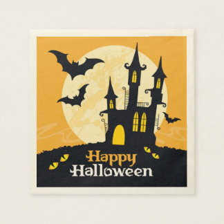Halloween Haunted Castle Paper Napkin