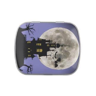 Halloween Haunted House Candy Tin
