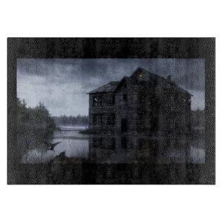 Halloween Haunted House Cutting Board