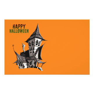 Halloween Haunted House Full Color Flyer