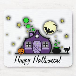Halloween Haunted House / Green Brew Mousepad