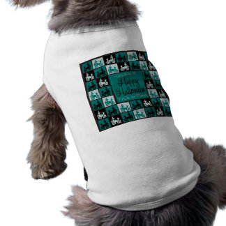 Halloween haunted house mosaic dog clothes