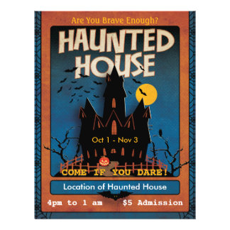 Halloween Haunted House Personalized Flyer