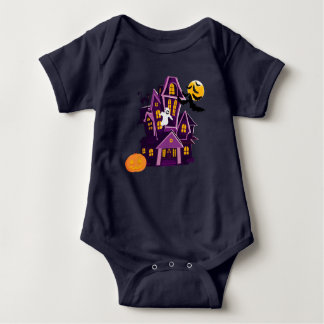 Halloween haunted house! Spooky fun! Baby Bodysuit