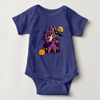 Halloween haunted house! Spooky fun! Baby Bodysuit