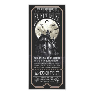 Halloween Haunted House Ticket Invitation