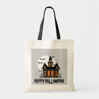Halloween Haunted House tote bag