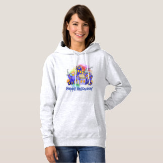 Halloween Haunted House with Colored Fog Hoodie