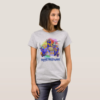 Halloween Haunted House with Colored Fog T-Shirt