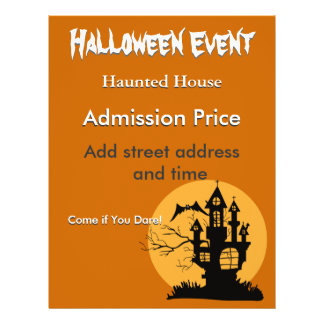 Halloween Haunted House with Moon Full Colour Flyer