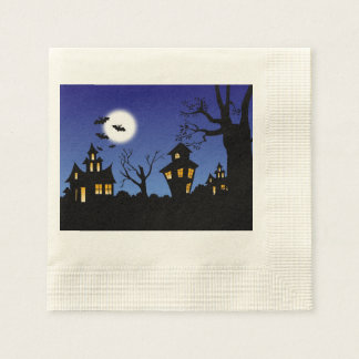 Halloween Haunted Houses Napkin