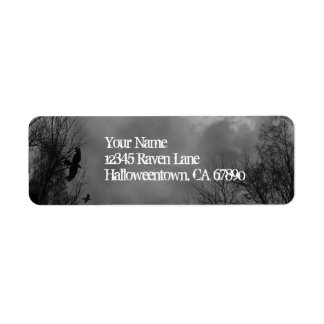 Halloween Haunted Sky Return Address Labels